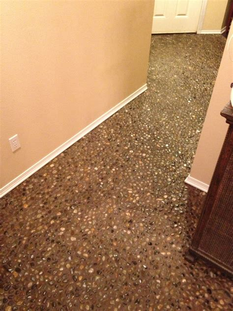 Pebble Flooring by 69 Diy River Rock Pebble Laid Floor Oooh I