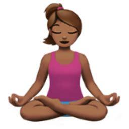 emoji yoga woman in lotus position medium skin tone emoji u 1f9d8