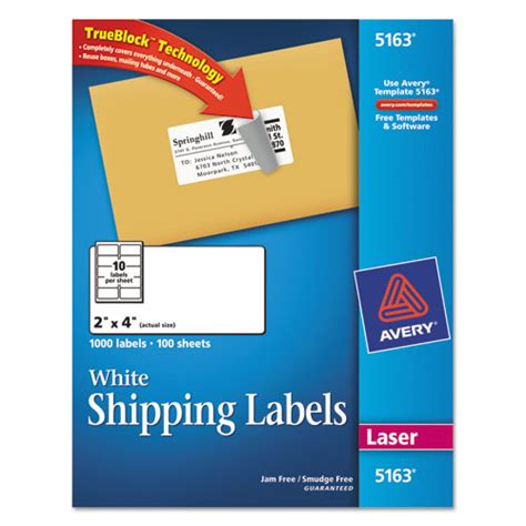 avery templates for labels avery 5163 shipping labels w ultrahold ad trueblock