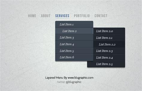 drop down menu design layered drop down menu psd