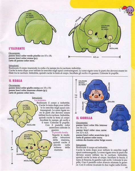 pattern d ch là gì cartamodelli e schemi per animali di pannolenci gorilla