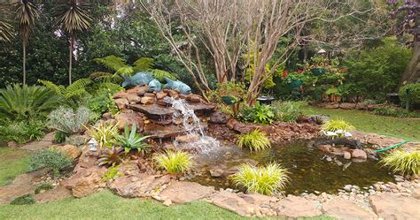 rock water features gardens in