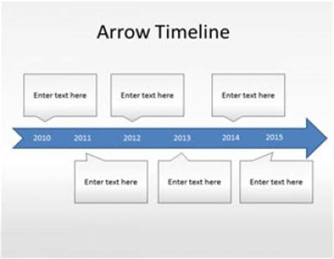 arrow timeline diagram powerpoint template