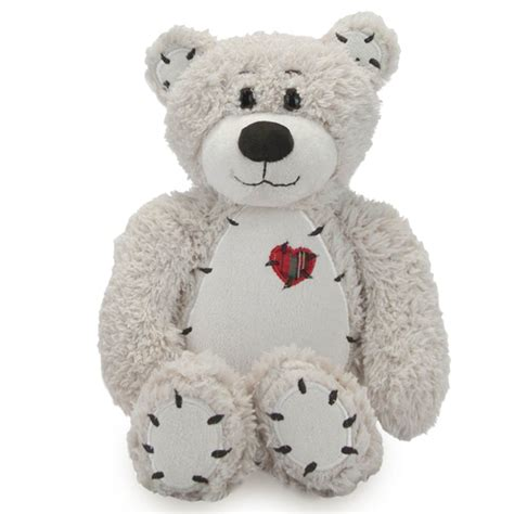 Patchwork Teddy Bears - tender the white teddy with patchwork by