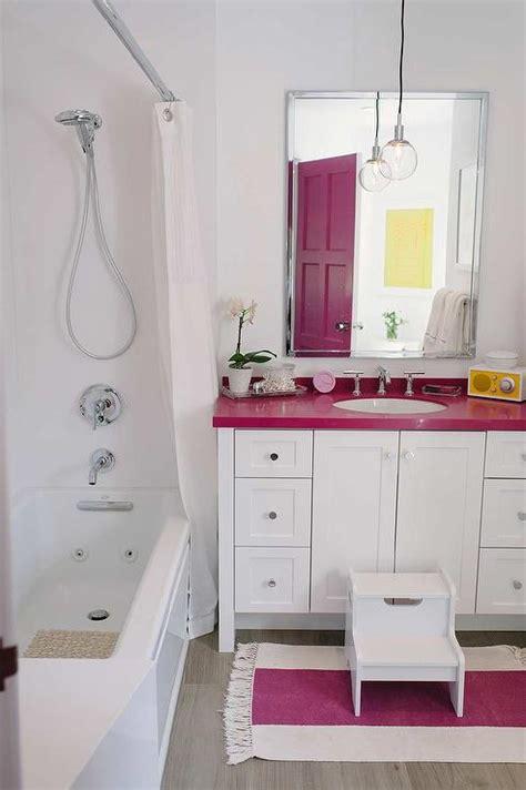 hot pink bathroom pink kohler sink contemporary bathroom