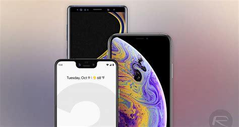 iphone xs max vs galaxy note 9 vs pixel 3 xl battery comparison redmond pie