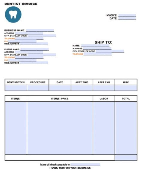 dental receipt template sle dental invoice template word templates resume exles