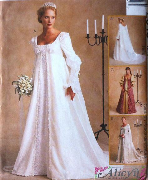 Renaissance Style Wedding Dresses by Renaissance Style Wedding Gown Sewing Pattern Mccalls