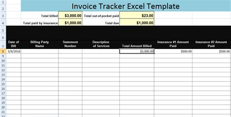 invoice tracker excel template xls microsoft excel templates