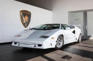 White Lamborghini Countach For Sale Lamborghini Countach 25th Anniversary Sale 1989