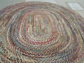 fantastic oval large multi colored wool braided rug at 1stdibs