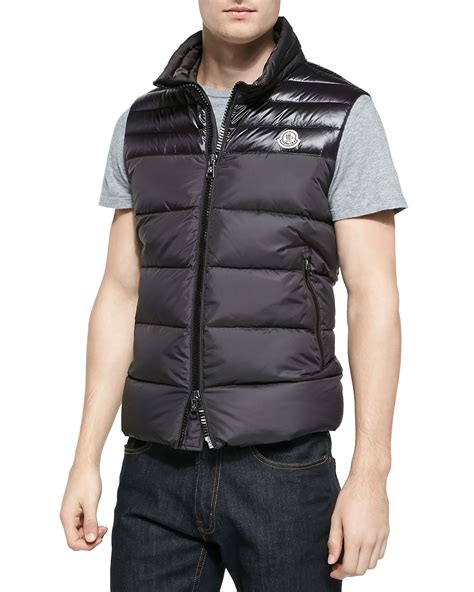 puffer vest moncler dupres quilted puffer vest in black for lyst