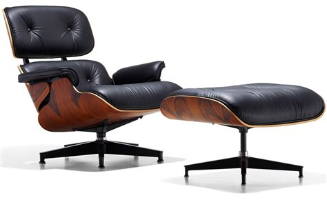 eames leather chair and ottoman eames 174 lounge chair ottoman hivemodern com