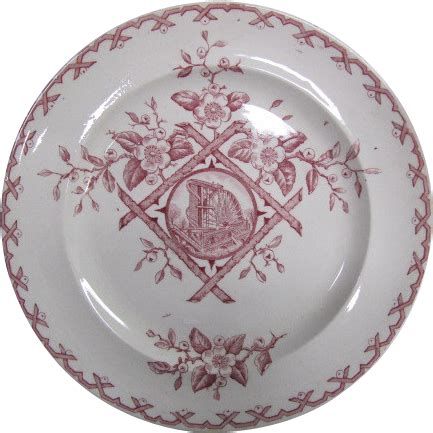 plate pattern finder aesthetic movement dinner plate alaska pattern in red from