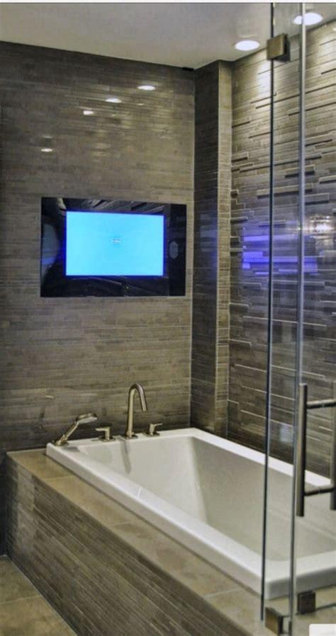 tv in bathroom ideas master bath with tv bathroom reno ideas pinterest