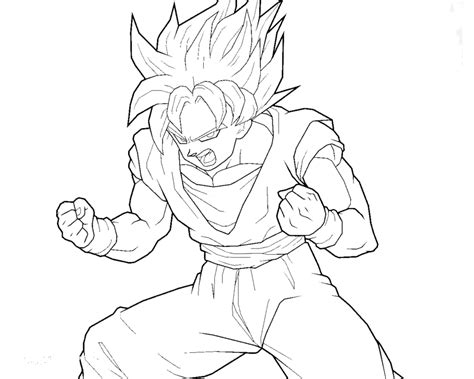 goku coloring pages printable coloring pictures of goku coloring home