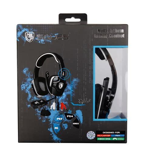 Headset Sades Spider data media sades gaming headset spider 3in1 usb 40mm