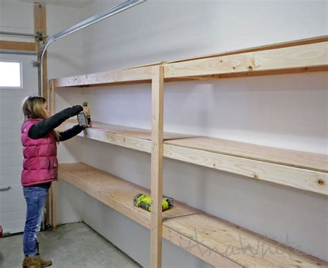 Garage Shelving Storage How To Build Garage Shelving Easy Cheap And Fast