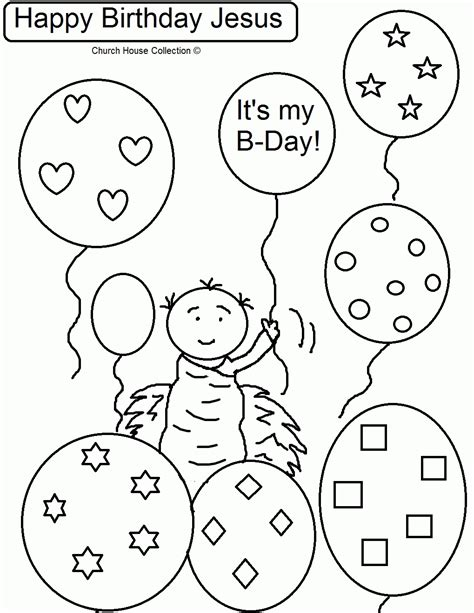 happy birthday jesus coloring page coloring home