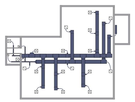 hvac duct diagram creating a hvac floor plan conceptdraw helpdesk
