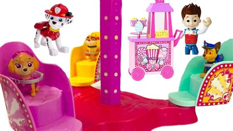 Playset Mainan Anak Paw Patrol Amusement Park carnival rides with paw patrol at amusement park