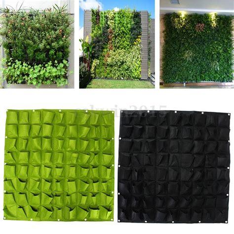 Vertical Garden Wall Pockets 72 Pocket Planting Bag Wall Vertical Flower Hanging Vege
