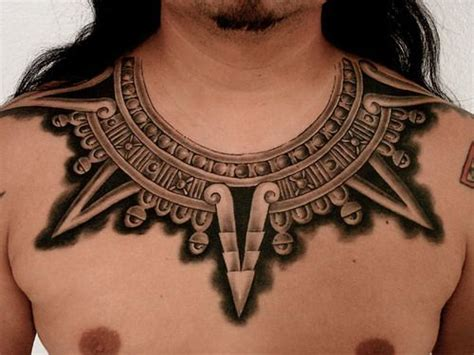 aztec chest tattoos tribal aztec tattoos honor ancient warriors 171