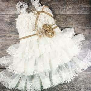 country wedding flower dresses rustic flower dress country wedding by