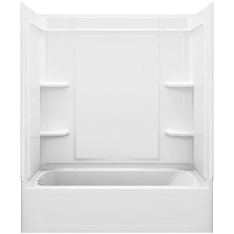 sterling bath shower sterling ensemble medley 60 in x 31 125 in x 74 25 in 4 tongue and groove tub wall in
