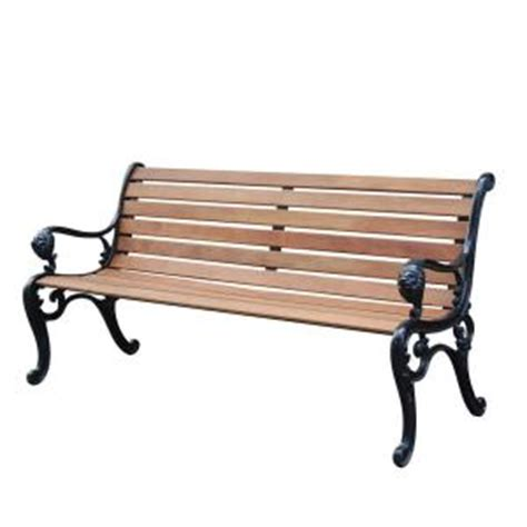 park benches home depot vifah lion steel patio park bench discontinued v1358 the
