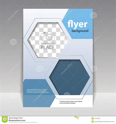 layout vector format business or technology flyer design template stock vector