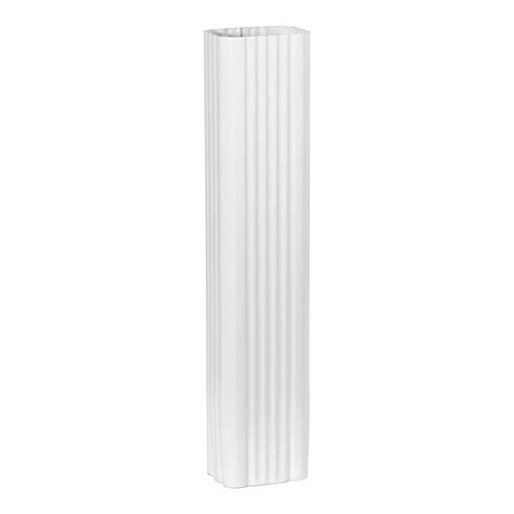Vinyl Gutters Home Depot by Amerimax Home Products 2 In X 3 In White Vinyl Downspout