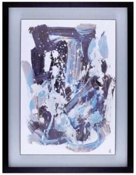 blue floral  framed wall art art van furniture