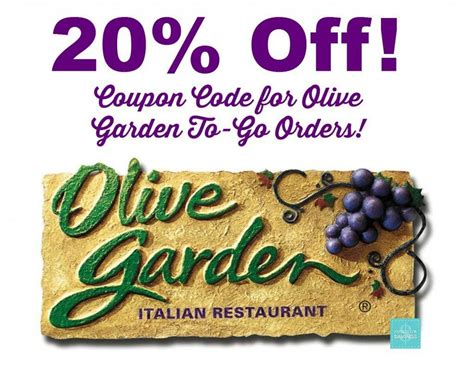 olive garden coupon images olive garden coupon code 20 off to go orders