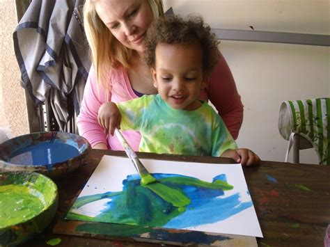 children s painting 7 tips painting with toddler preschool ecokidsart