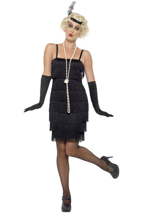 Sale Dress Import 6392 Black 1920 s flapper dress costume black
