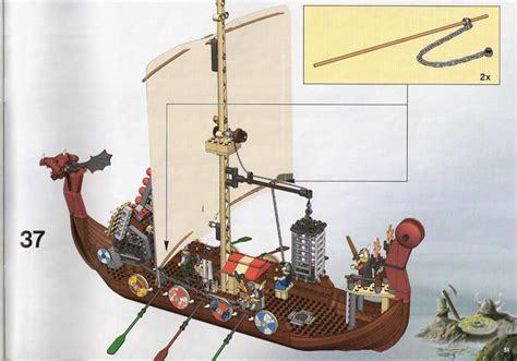lego viking boat instructions bricks argz