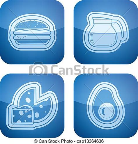 Vectors of Drink & Food   Drink & food icons set, from left to right,  csp13364636   Search
