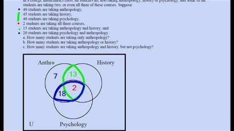 three set venn diagram problems three set venn diagram problem 02
