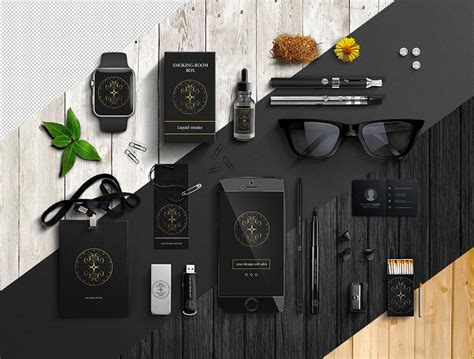download office items branding mockup free psd at