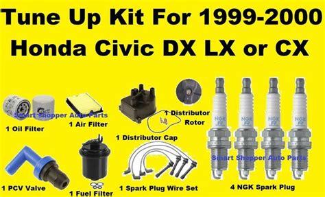 honda civic tune up 1999 2000 honda civic lx dx cx tune up kit spark
