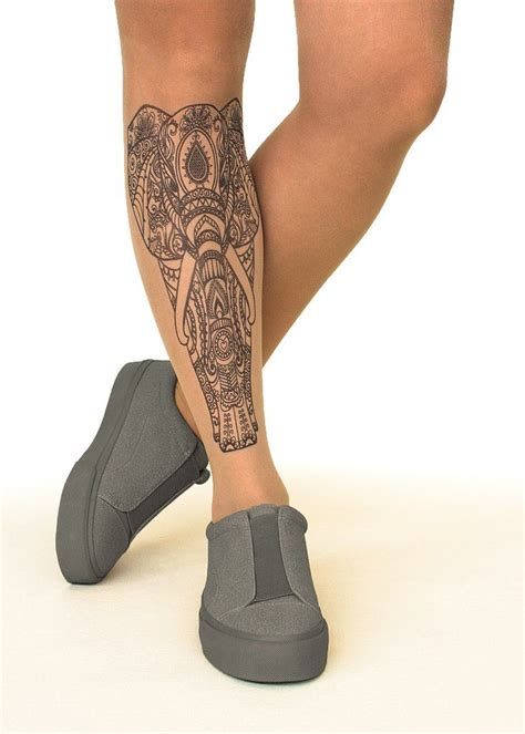 tights tattoo designs indian elephant sheer tights stop stare