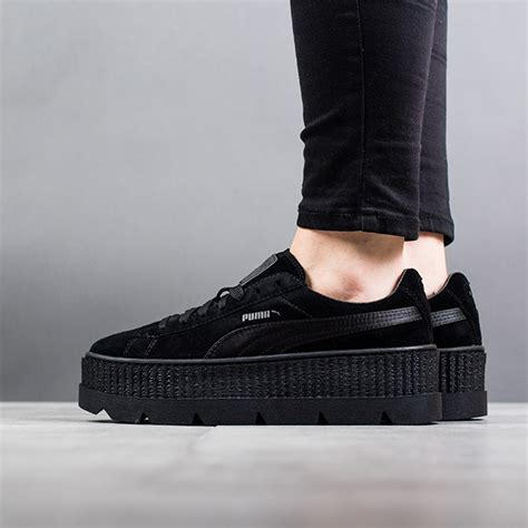 Sneakers Murah Rihana White Black s shoes sneakers x fenty rihanna cleated creeper suede quot black quot 366268 04 best shoes