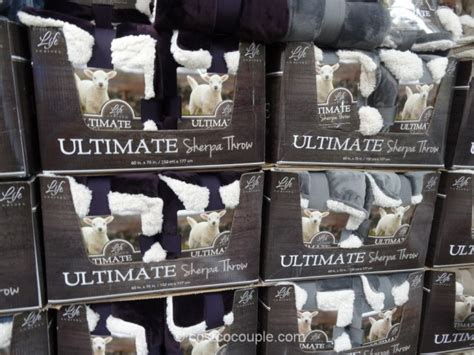 life comfort throw costco life comfort ultimate sherpa throw