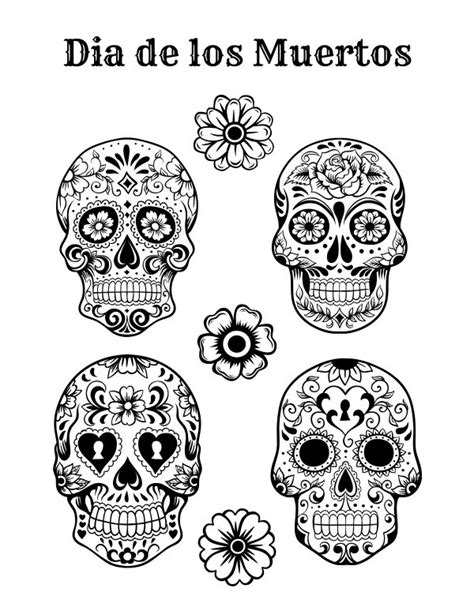 free printable dia de los muertos coloring page mama