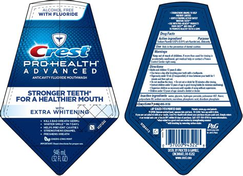 crest pro health advanced wextra whitening rinse