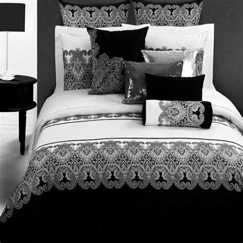 Retro Bed Sets Black White Style Bedding Set Retro Printed Home Textile Comforter Duvet Cover King Size