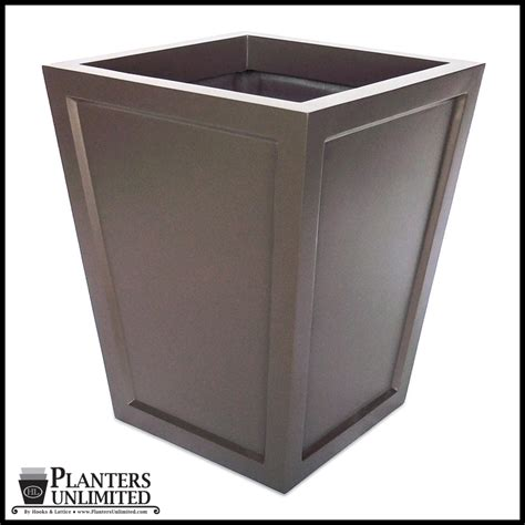 Tapered Square Planter by Fiberglass Outdoor Planters Tapered Lightweight