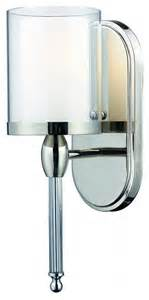 chrome glass bathroom sconce contemporary bathroom