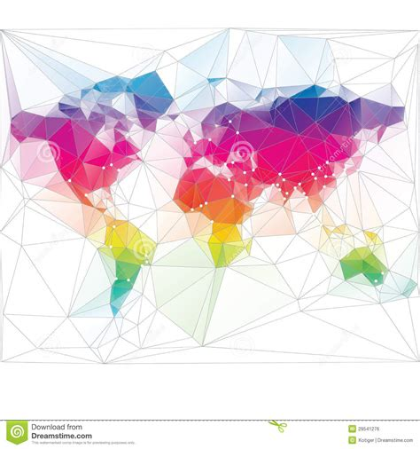 free design never tell the world colored world map triangle design stock vector image